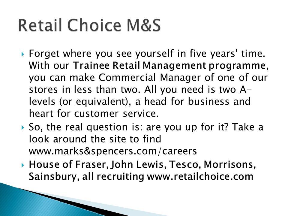 Retail Choice M&S