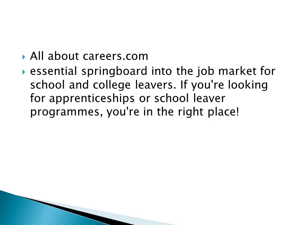 All about careers.com