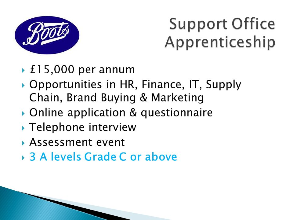 Support Office Apprenticeship