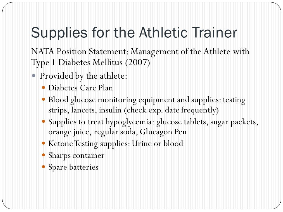 Supplies for the Athletic Trainer