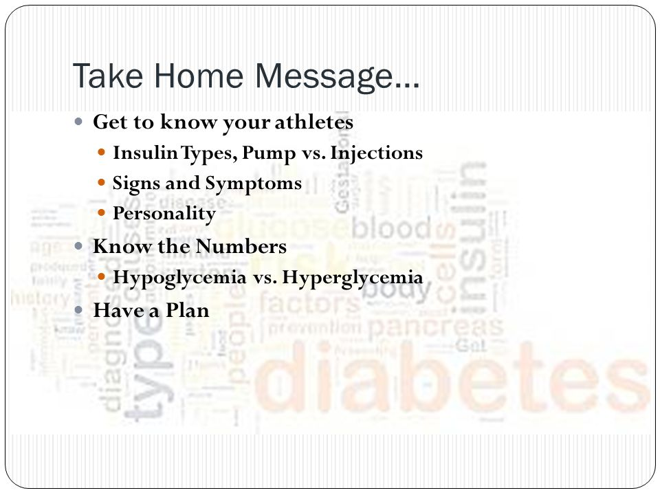 Take Home Message… Get to know your athletes Know the Numbers