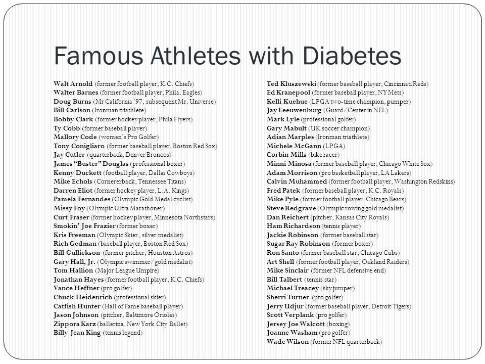 Famous Athletes with Diabetes