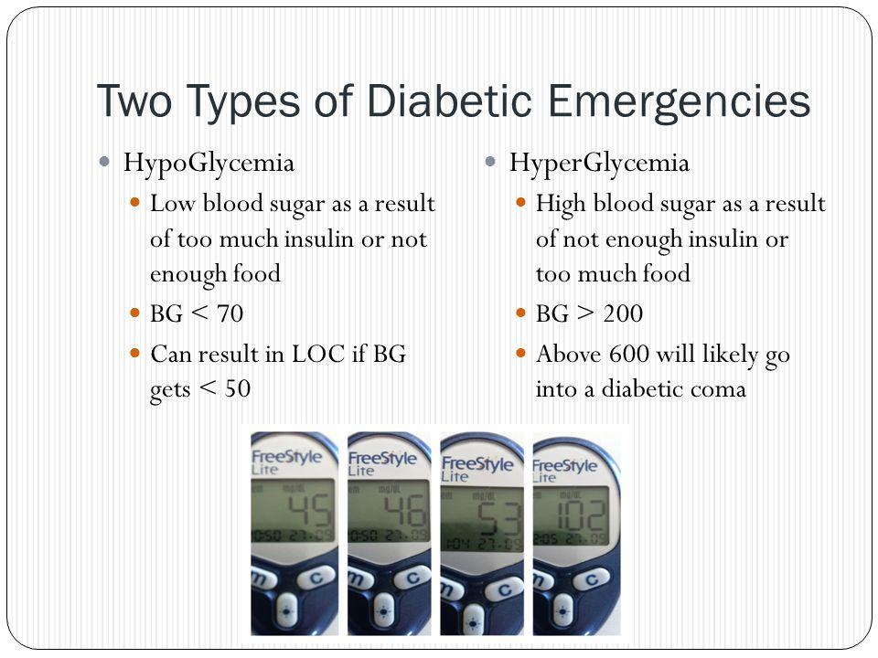 Two Types of Diabetic Emergencies