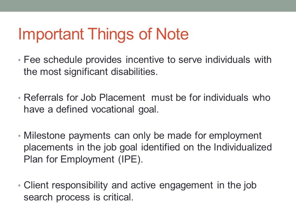 Important Things of Note