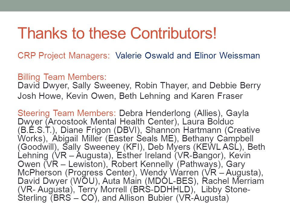 Thanks to these Contributors!
