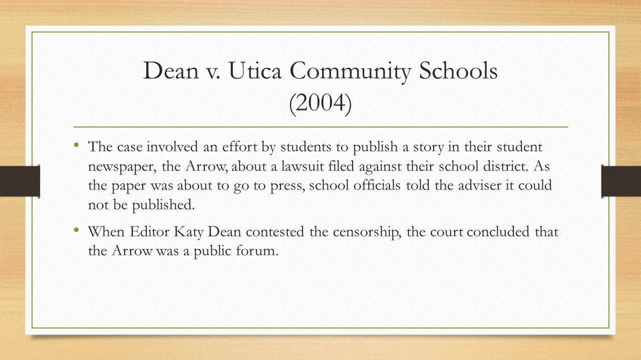 Dean v. Utica Community Schools (2004)