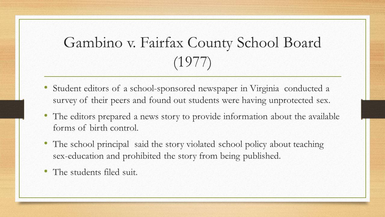Gambino v. Fairfax County School Board (1977)