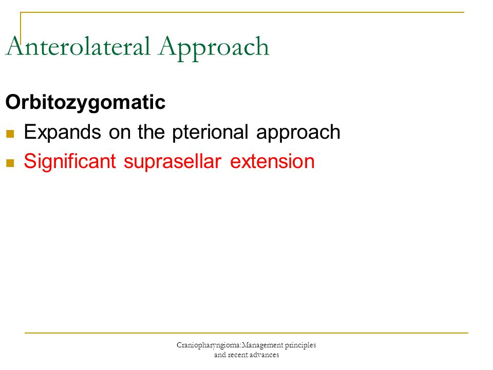 Anterolateral Approach