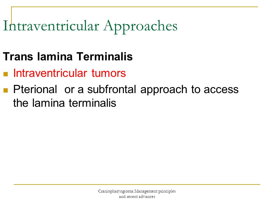 Intraventricular Approaches