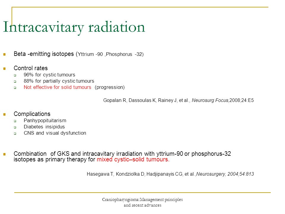 Intracavitary radiation