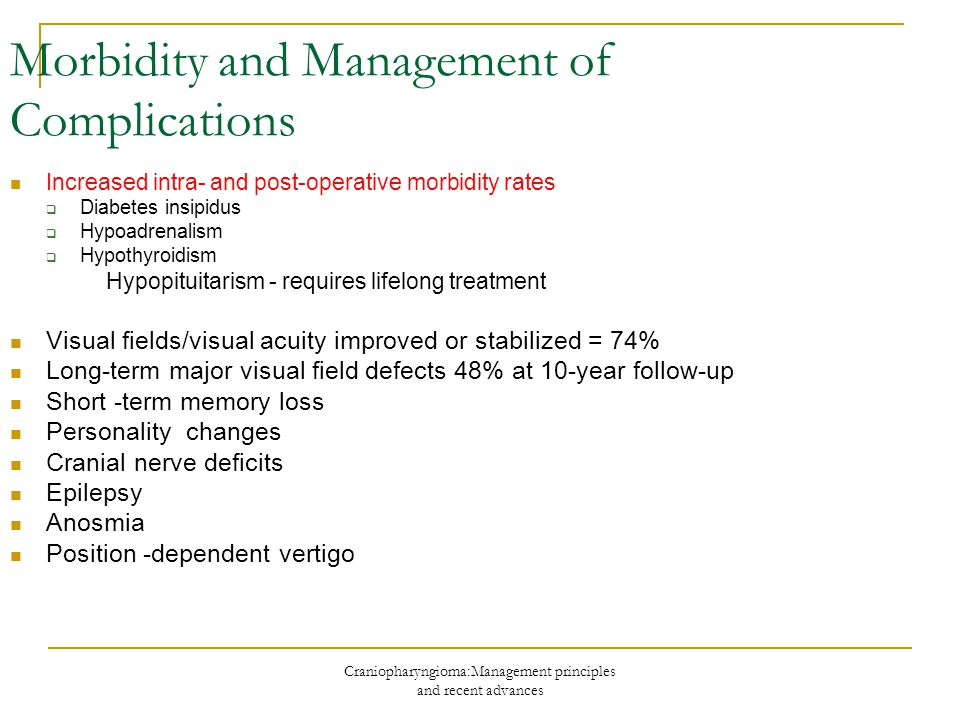 Morbidity and Management of Complications