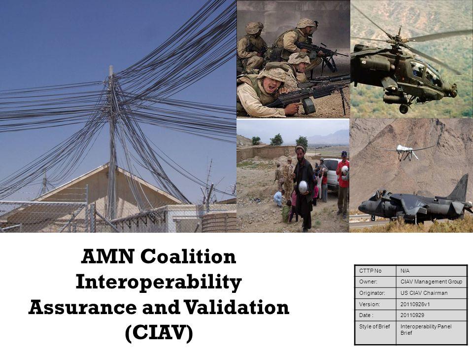 AMN Coalition Interoperability Assurance and Validation (CIAV)