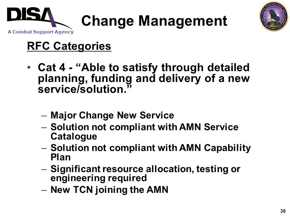 Change Management RFC Categories