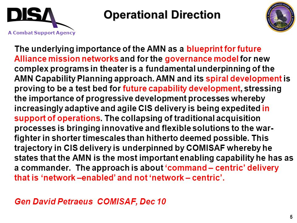 Operational Direction