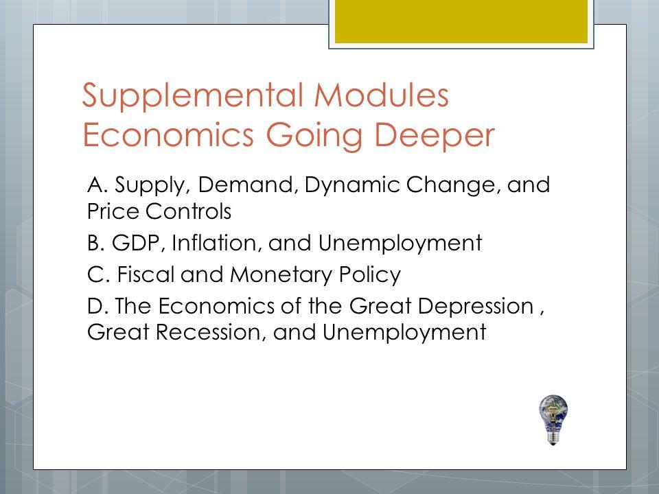 Supplemental Modules Economics Going Deeper