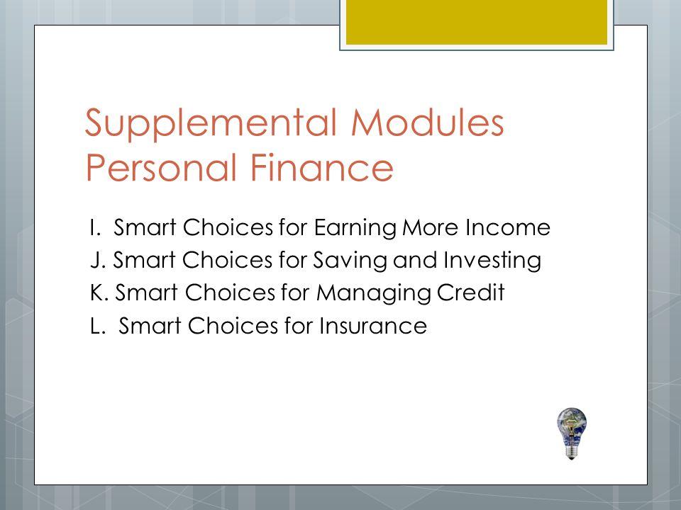 Supplemental Modules Personal Finance