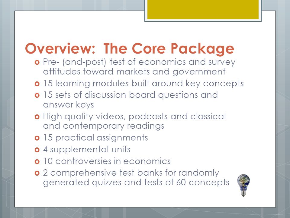 Overview: The Core Package