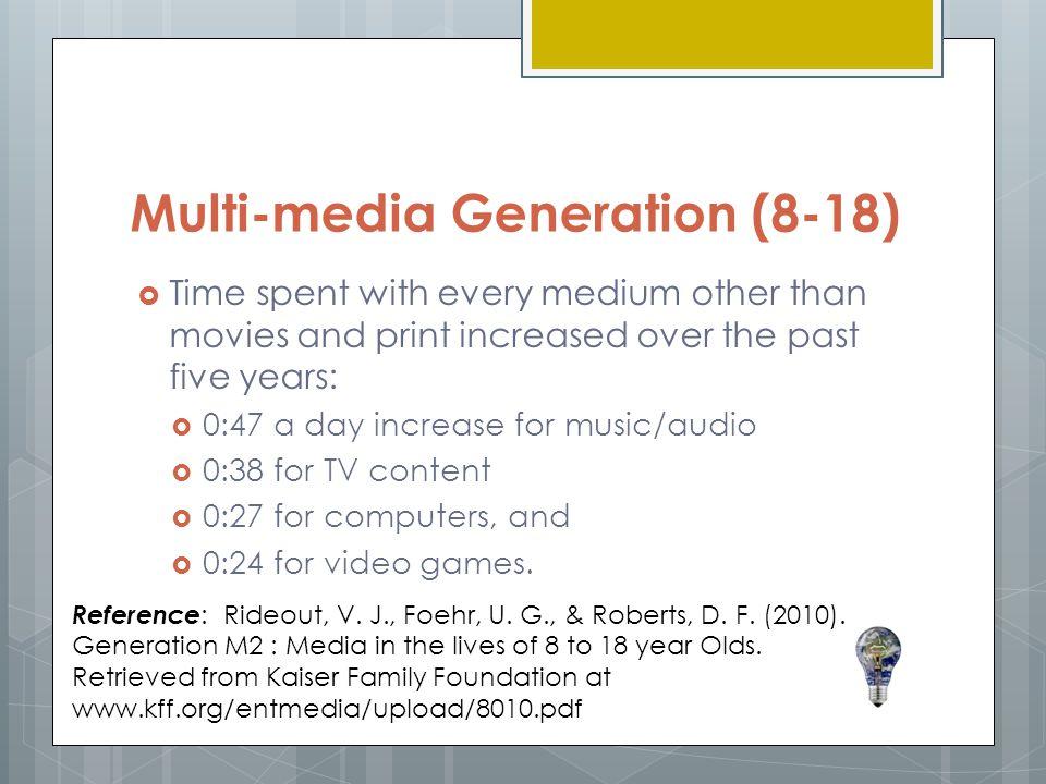 Multi-media Generation (8-18)