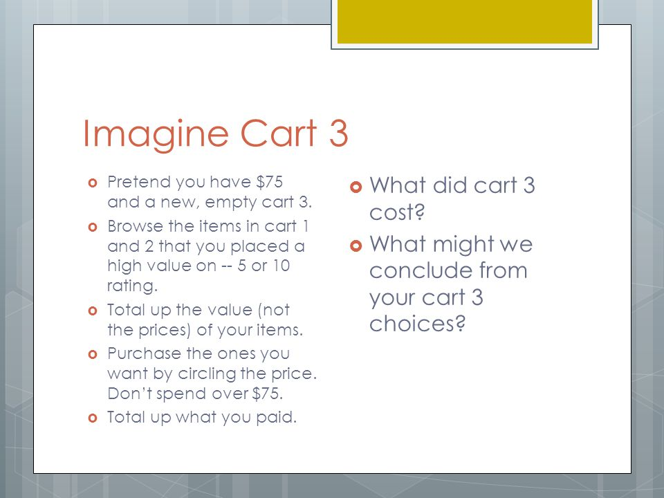 Imagine Cart 3 What did cart 3 cost