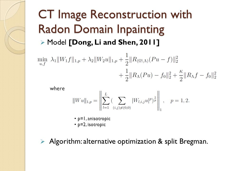 CT Image Reconstruction with Radon Domain Inpainting