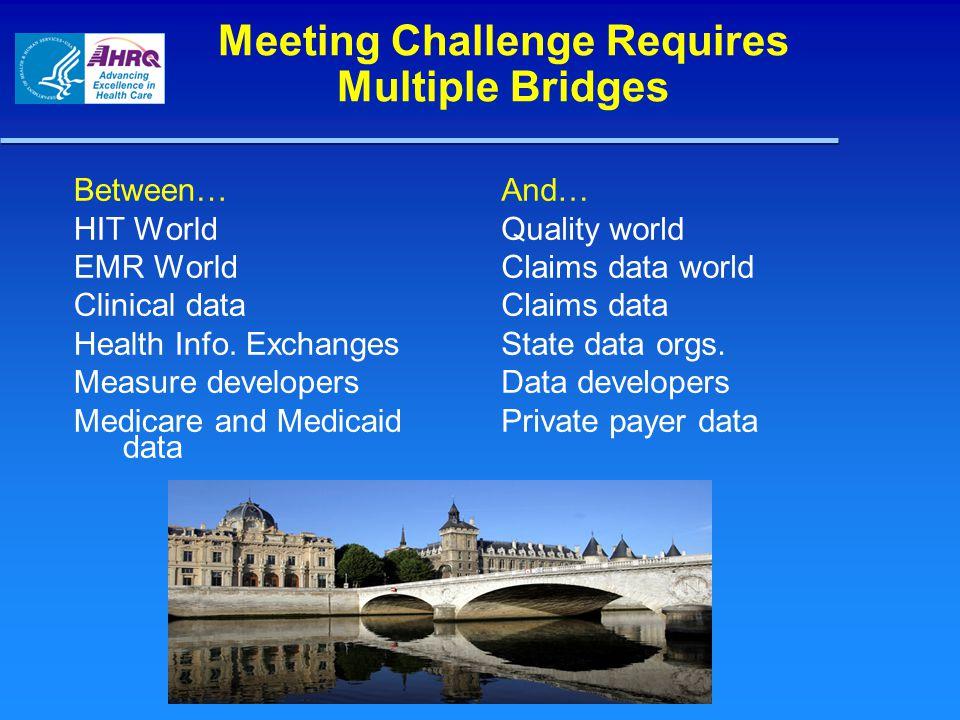 Meeting Challenge Requires Multiple Bridges