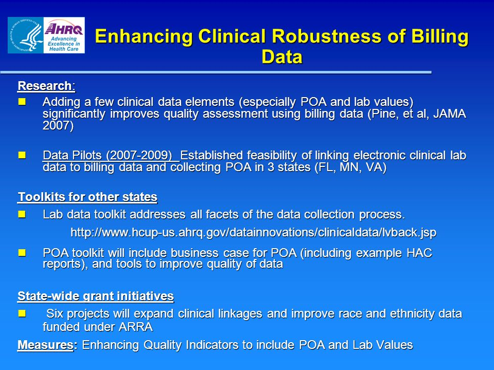 Enhancing Clinical Robustness of Billing Data