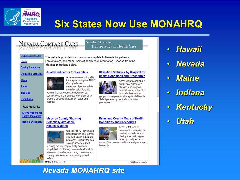 Six States Now Use MONAHRQ