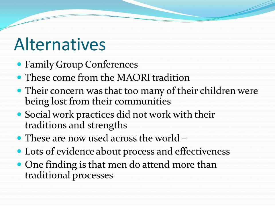 Alternatives Family Group Conferences