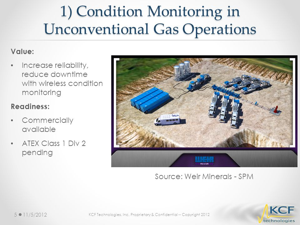 1) Condition Monitoring in Unconventional Gas Operations
