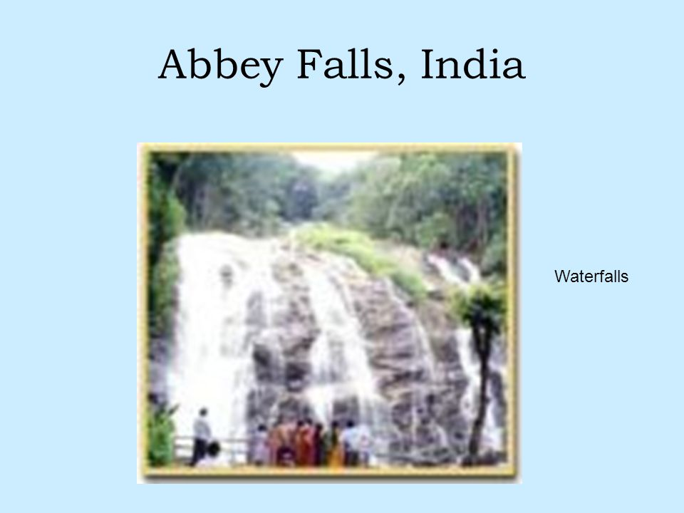 Abbey Falls, India Waterfalls