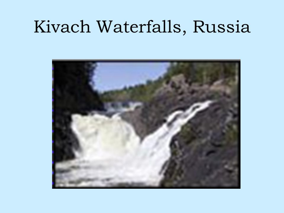 Kivach Waterfalls, Russia