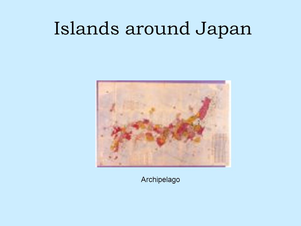 Islands around Japan Archipelago