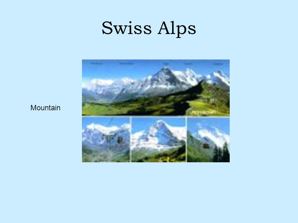 Swiss Alps Mountain