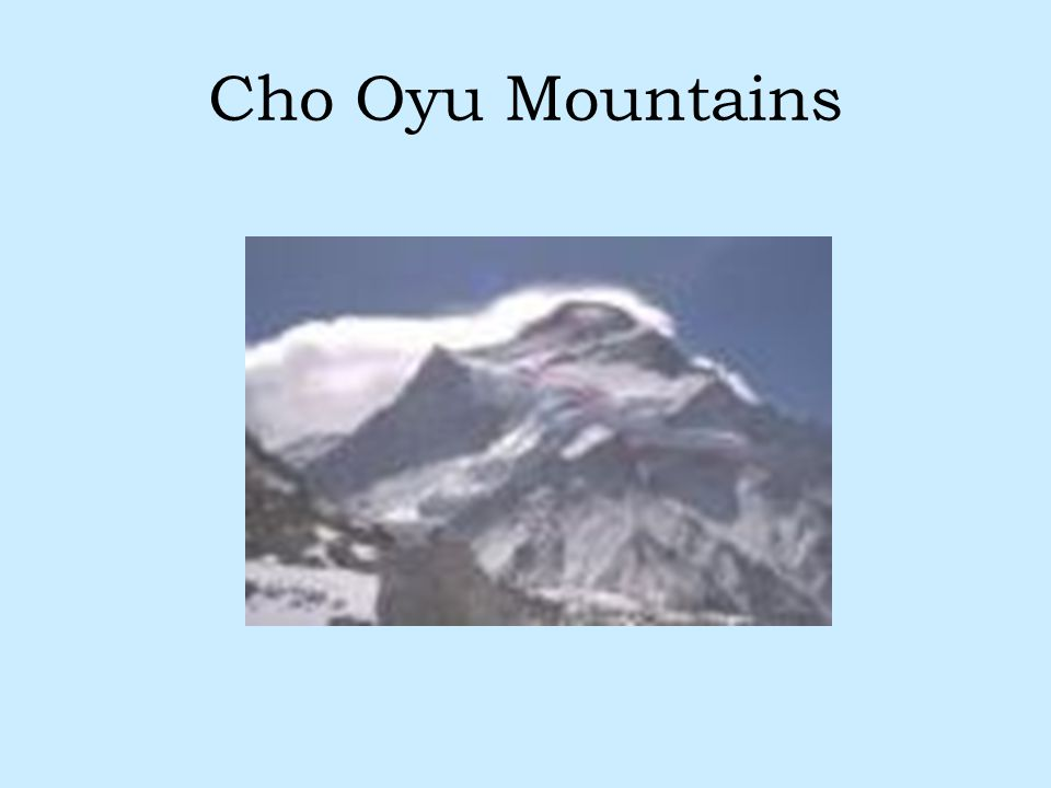 Cho Oyu Mountains