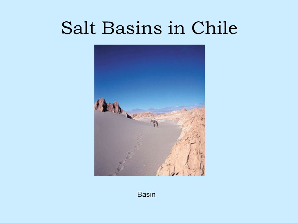 Salt Basins in Chile Basin