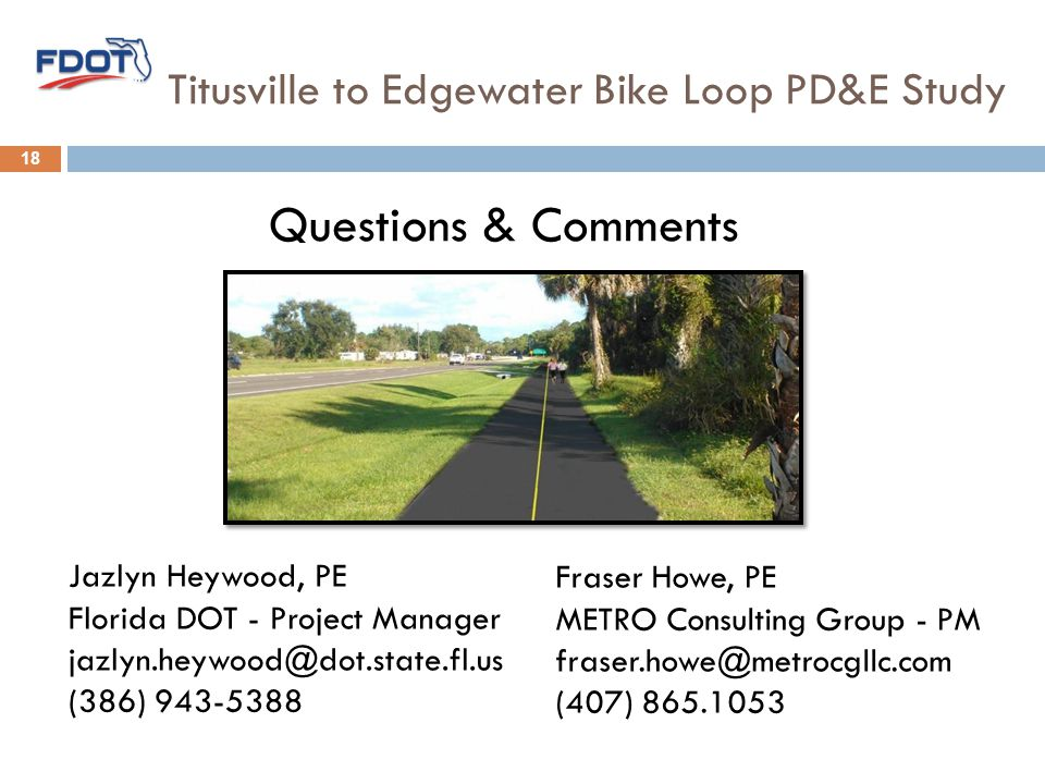 Titusville to Edgewater Bike Loop PD&E Study