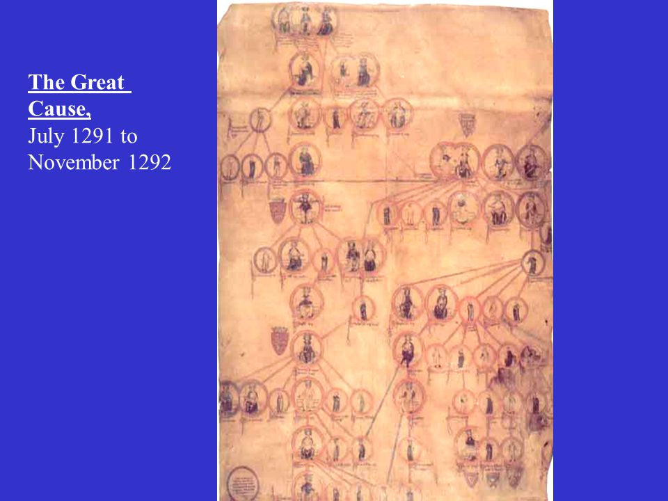 The Great Cause, July 1291 to November 1292