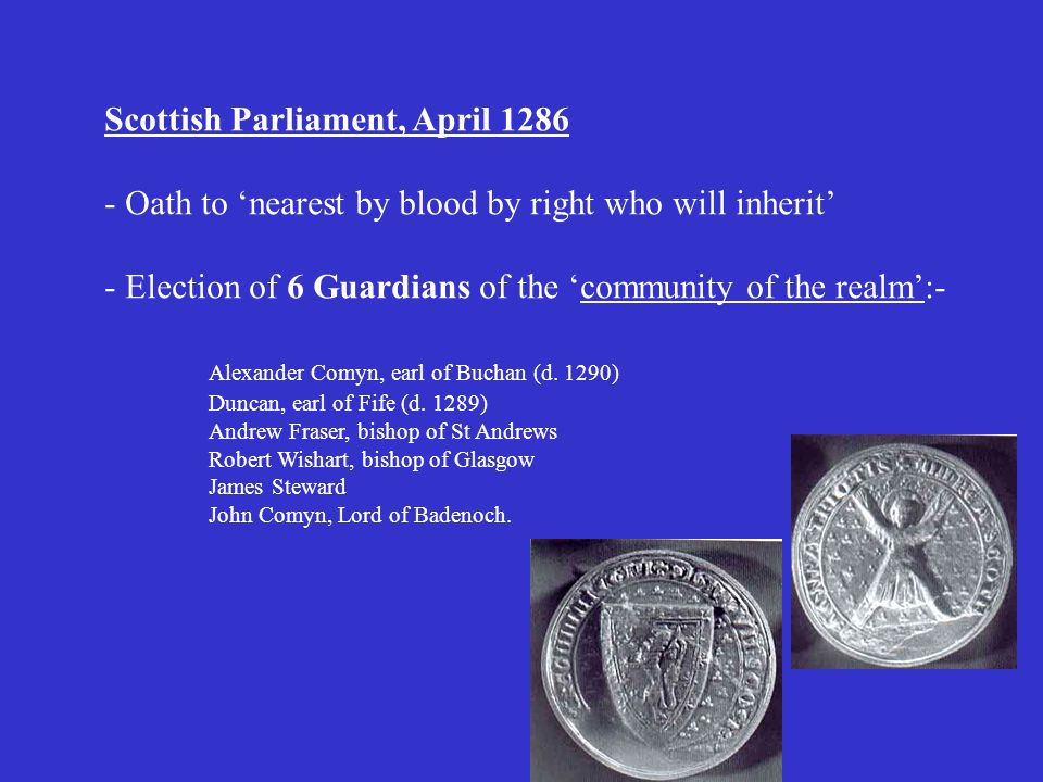 Scottish Parliament, April 1286