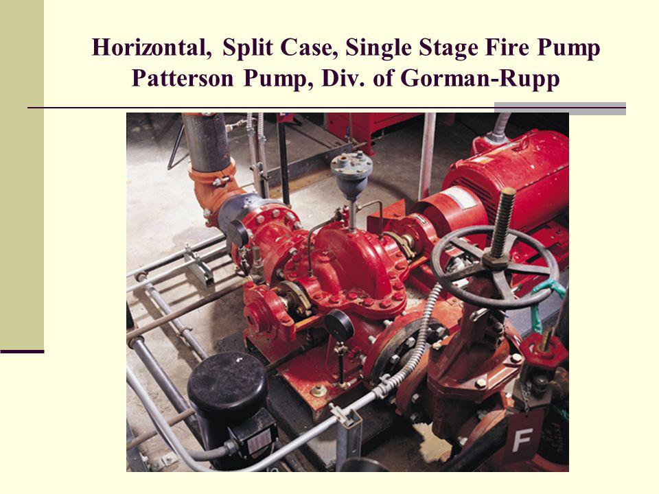 Horizontal, Split Case, Single Stage Fire Pump Patterson Pump, Div