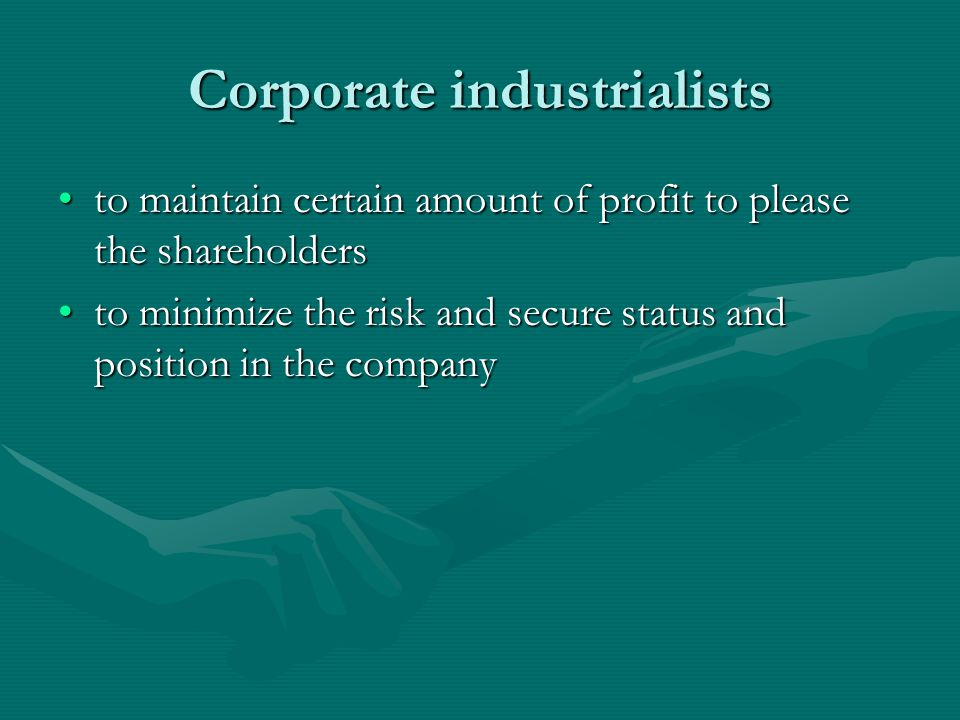 Corporate industrialists