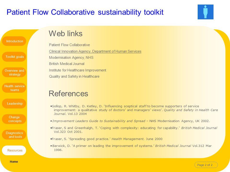 Web links References Patient Flow Collaborative