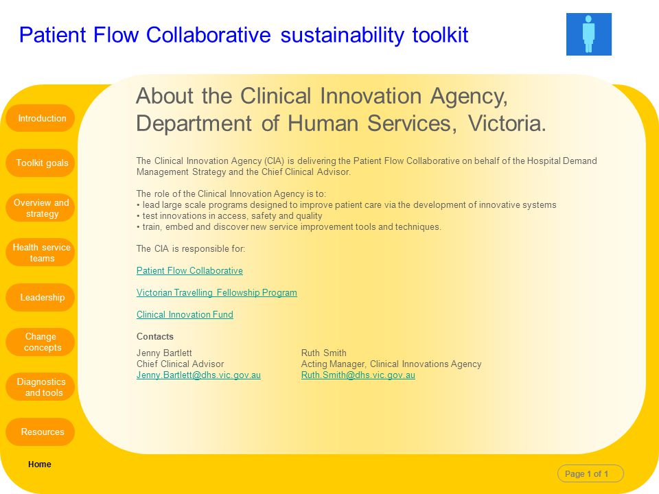 About the Clinical Innovation Agency,