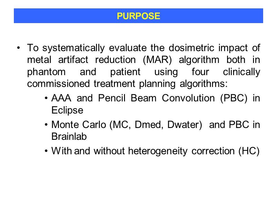 AAA and Pencil Beam Convolution (PBC) in Eclipse