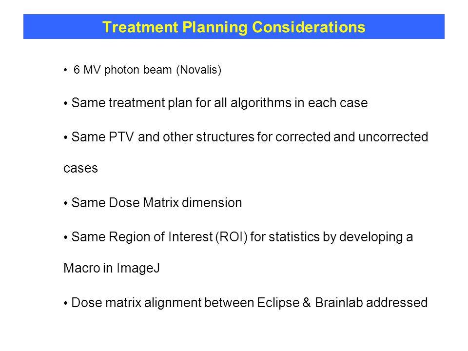 Treatment Planning Considerations