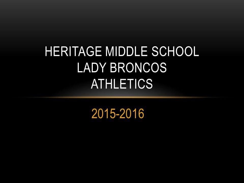 Heritage Middle School Lady Broncos Athletics