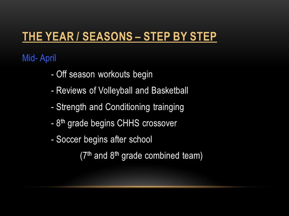 The year / seasons – step by step