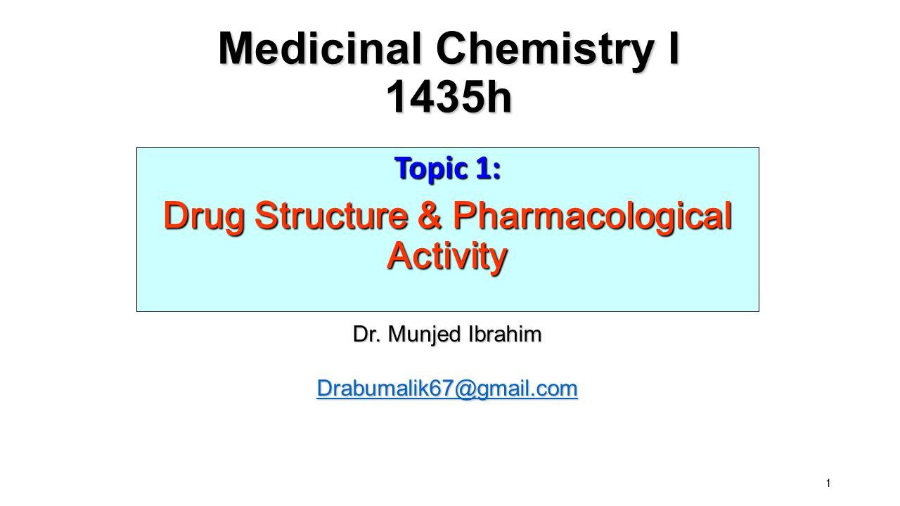 Medicinal Chemistry I 1435h