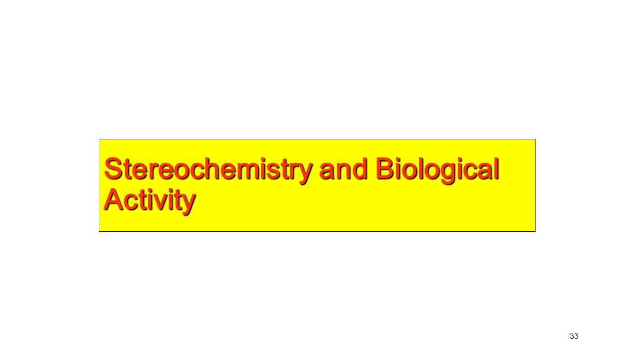 Stereochemistry and Biological Activity