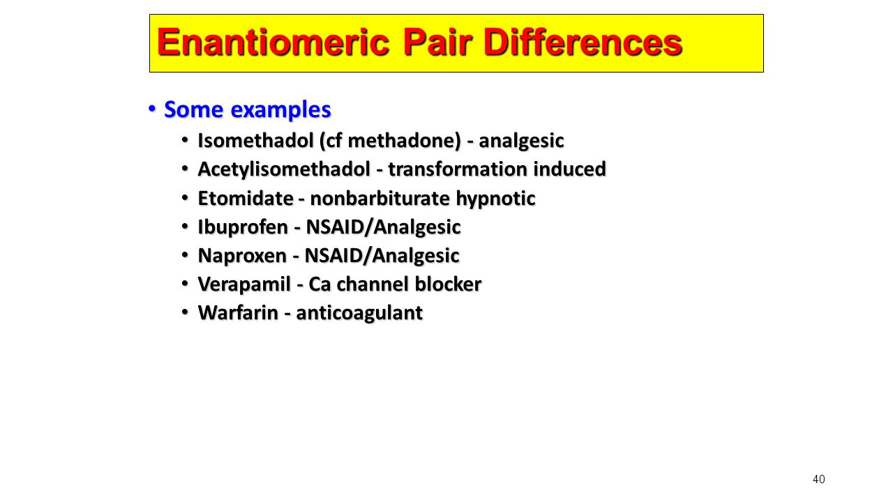Enantiomeric Pair Differences