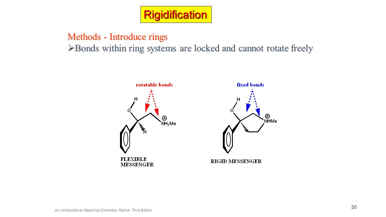 Rigidification Methods - Introduce rings
